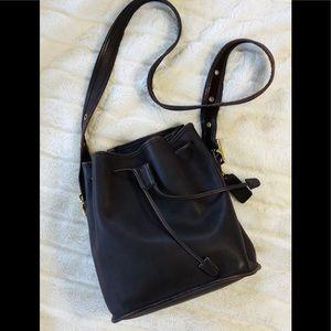 Coach vintage dark brown drawstring bucket bag